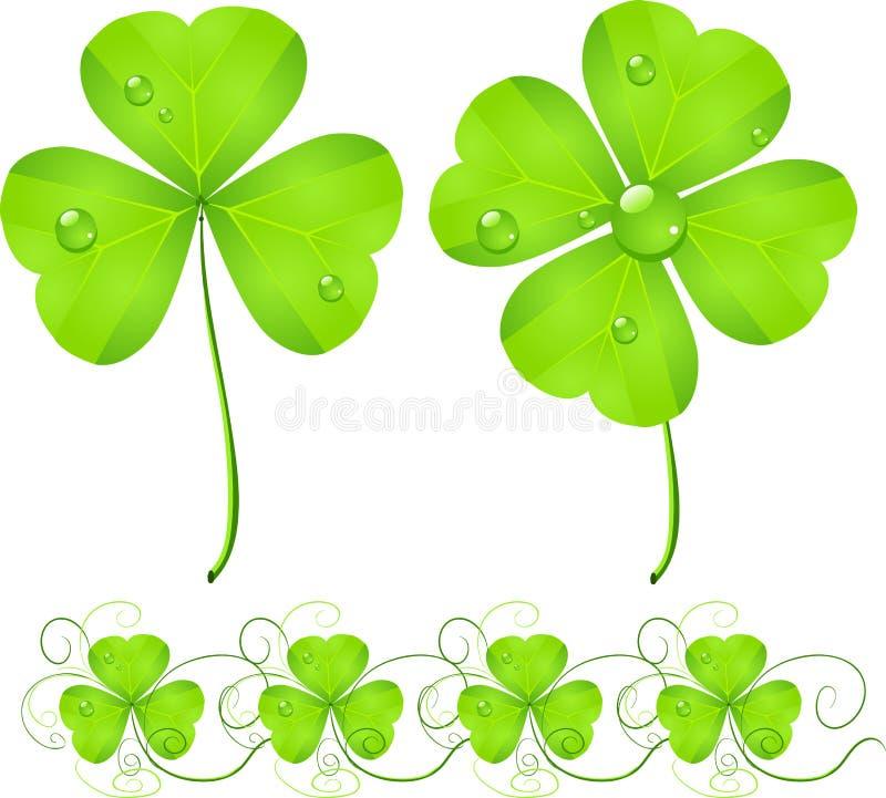 Trevo do verde do dia do St. Patrick ilustração stock