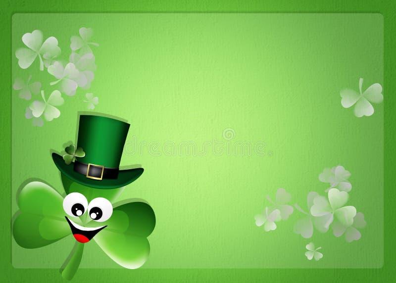 Trevo para o dia de St Patrick ilustração royalty free