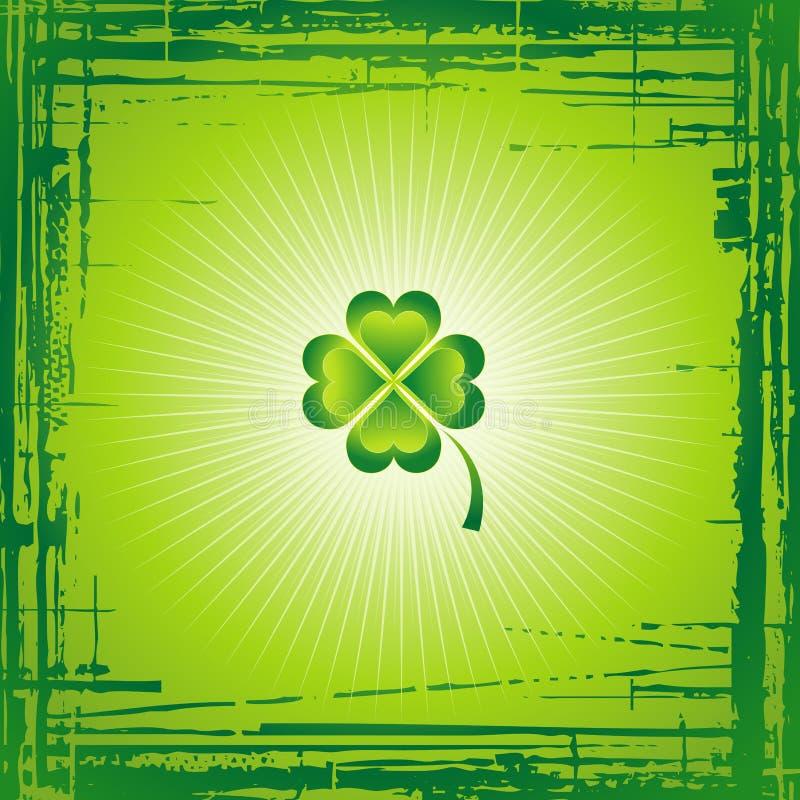 Trevo para o dia do St. Patrick ilustração royalty free
