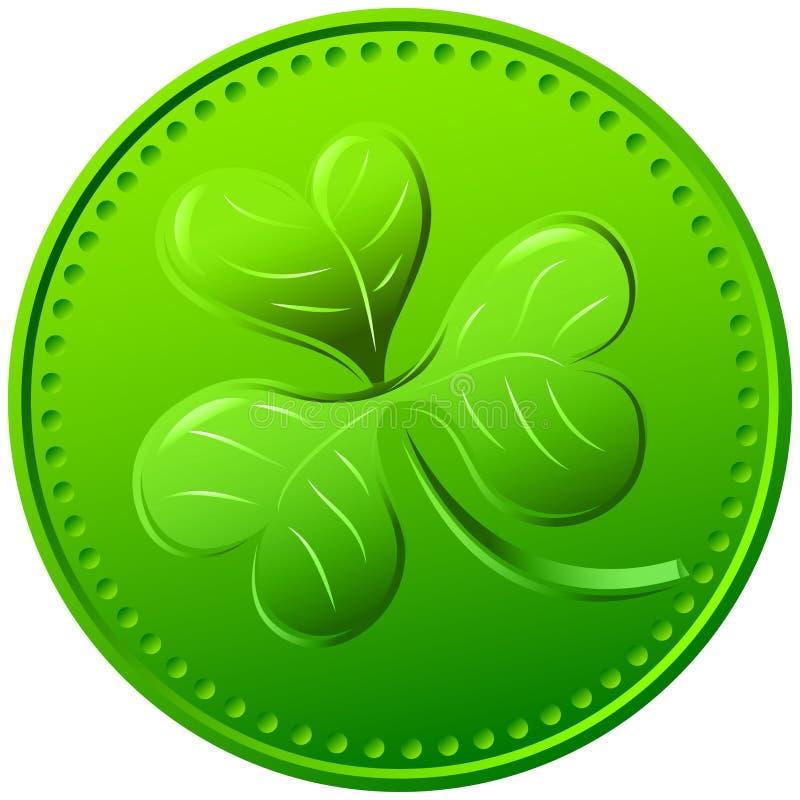 Trevo verde do vetor. símbolo do dia de St Patrick ilustração stock