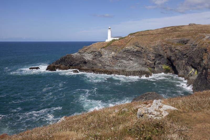 Trevose głowy latarnia morska, Cornwall, Anglia obrazy royalty free