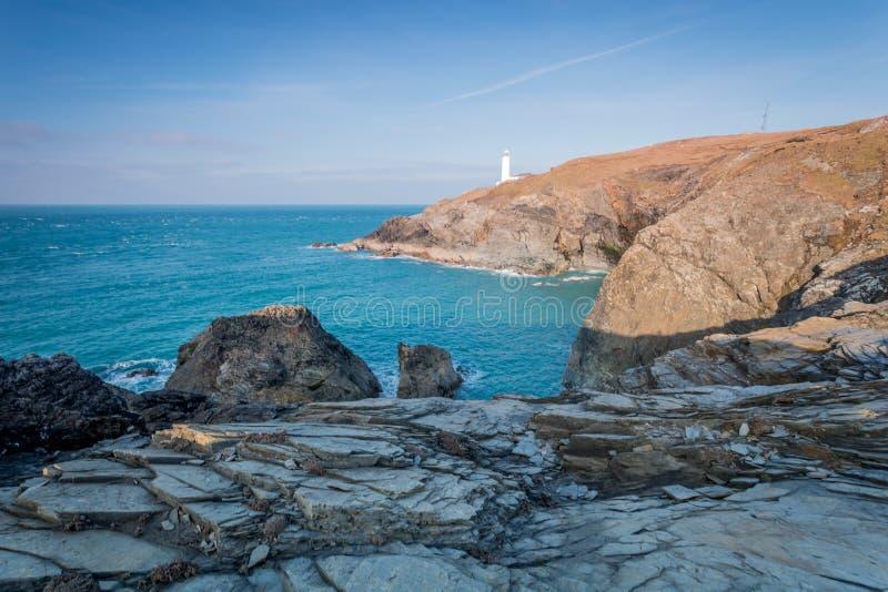 Trevosevuurtoren Cornwall Engeland het UK royalty-vrije stock afbeeldingen