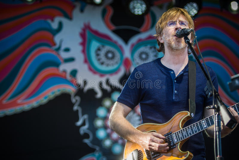 Trey Anastasio From de Band Phish stock foto