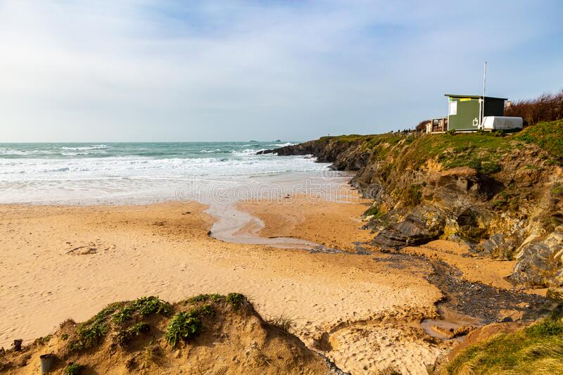 Treyarnon Bay Cornwall England royaltyfri foto