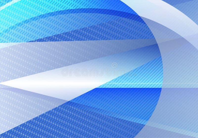 Triángulo abstracto azul y gris del vector del fondo y línea recta stock de ilustración