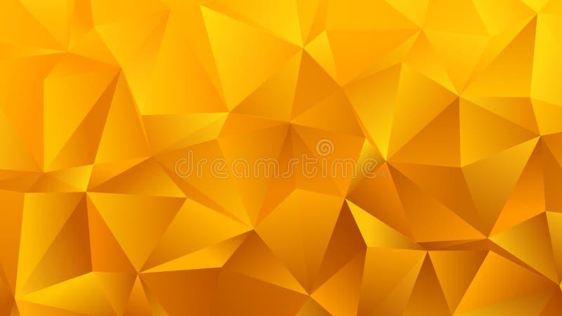 Triángulo amarillo de oro BG para su negocio ilustración del vector