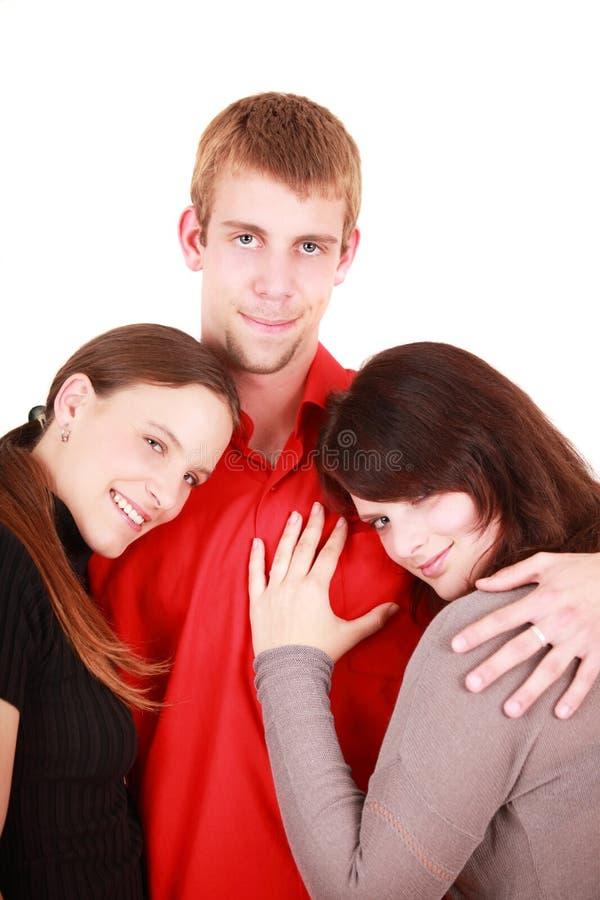 Triángulo de amor fotografía de archivo