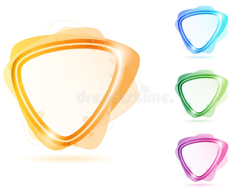 Triángulo De Neón Colorido Del Marco De La Burbuja Ilustración del ...