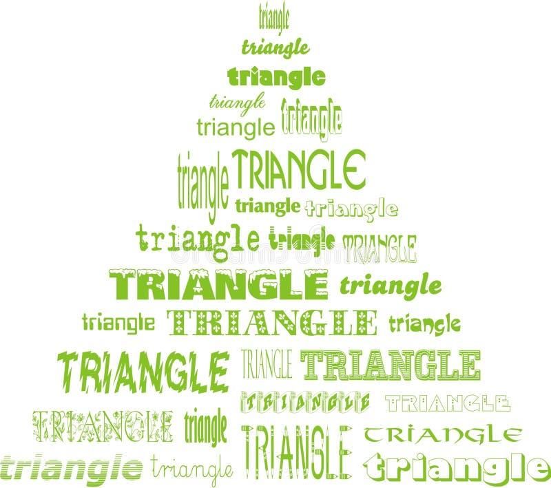 Triángulo de triángulos stock de ilustración