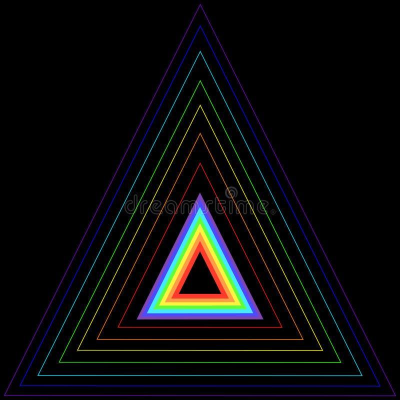 Triángulo del arco iris en otro triángulo libre illustration