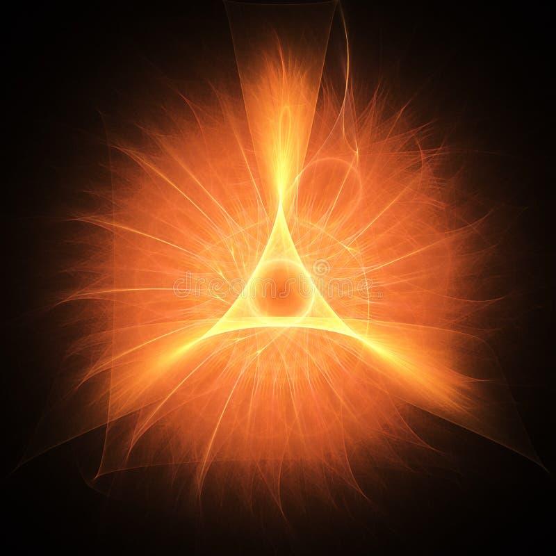 Triángulo del fuego stock de ilustración