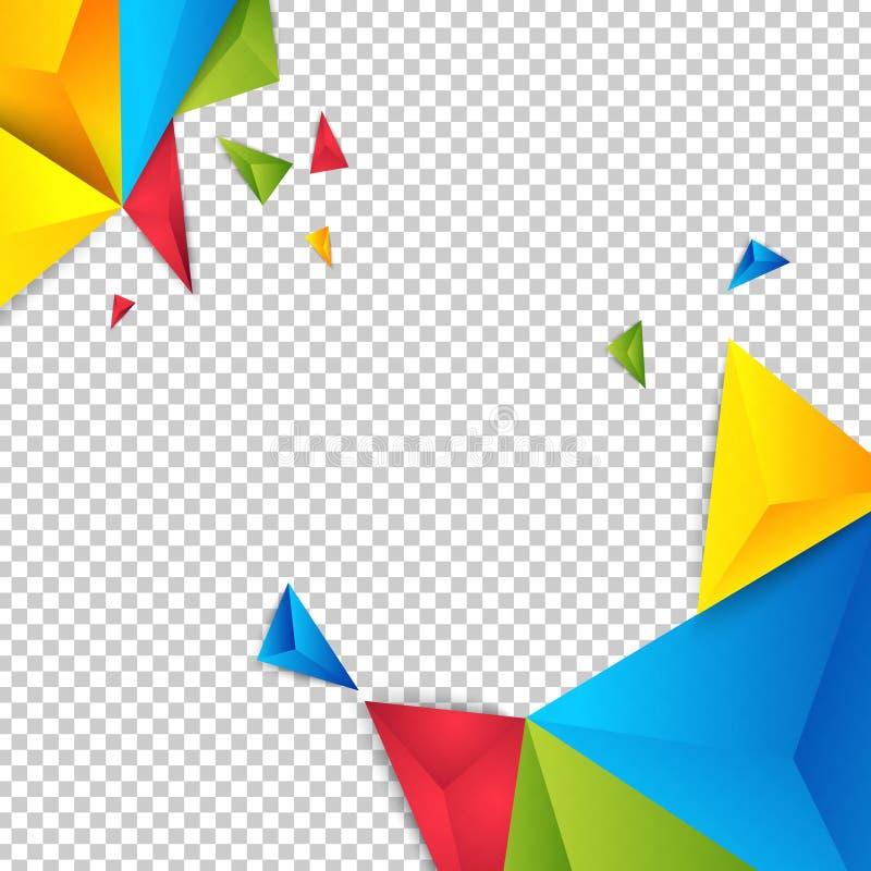 Triángulo del polígono del extracto del fondo del color del vector libre illustration