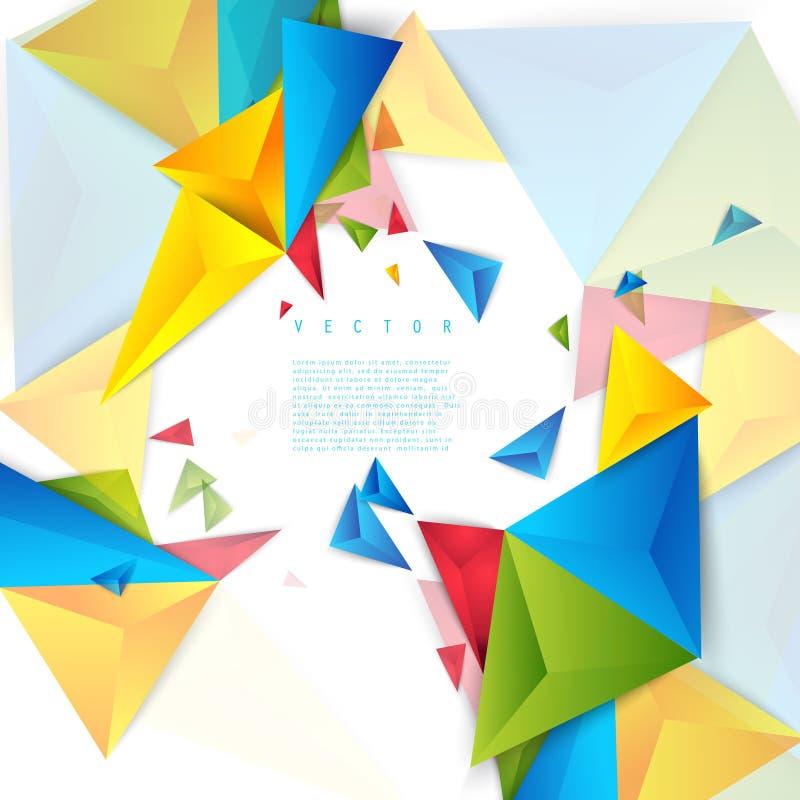 Triángulo del polígono del extracto del fondo del color del vector ilustración del vector