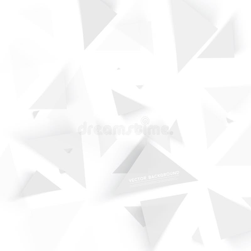 Triángulo del polígono del extracto del fondo del vector libre illustration