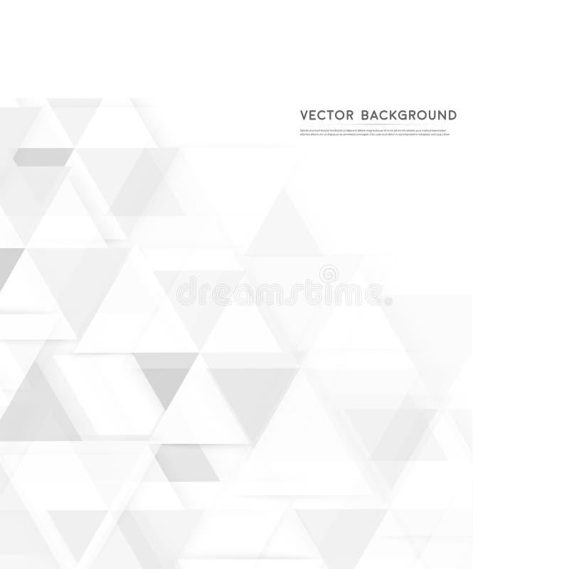 Triángulo del polígono del extracto del fondo del vector ilustración del vector