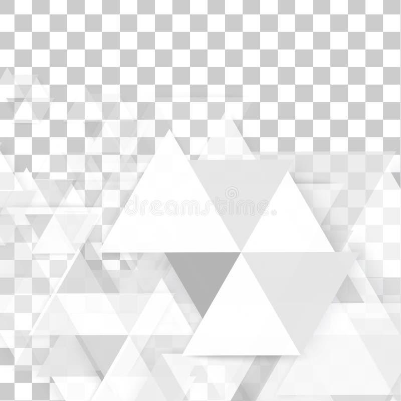 Triángulo del polígono del extracto del fondo del vector stock de ilustración