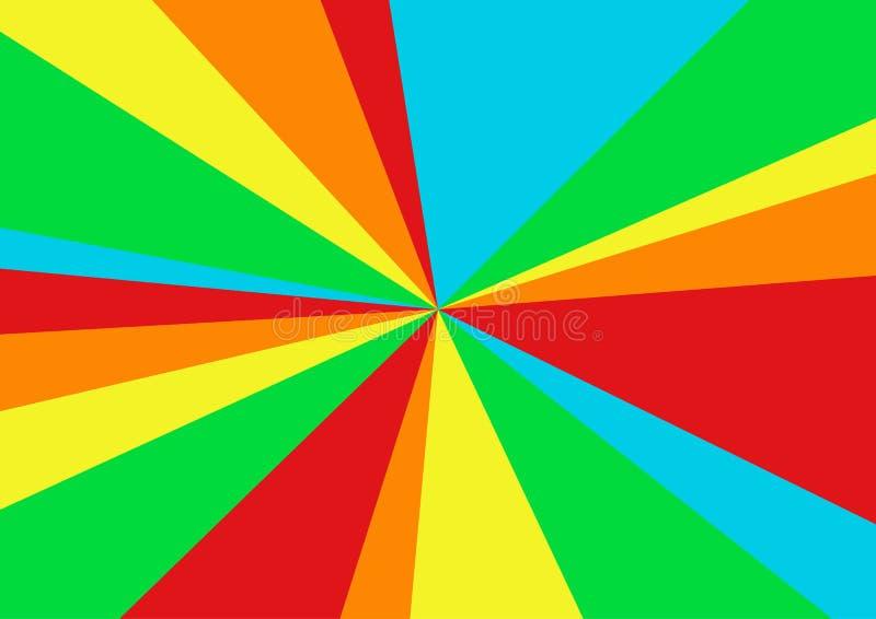 Triángulo del vector del arco iris, ejemplo abstracto geométrico, uso para el fondo del papel pintado, uso del web, cartel ilustración del vector