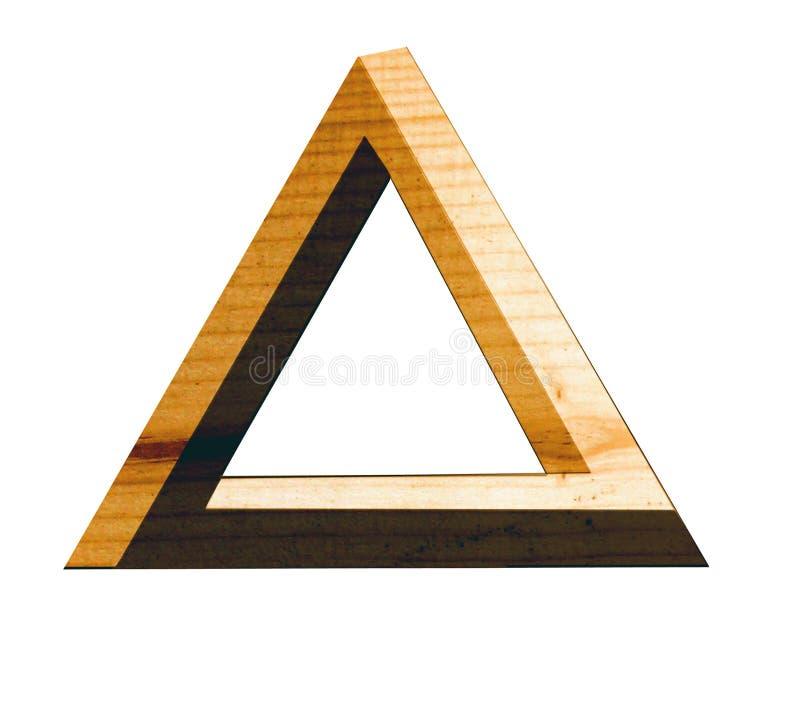 Triángulo eterno en madera libre illustration