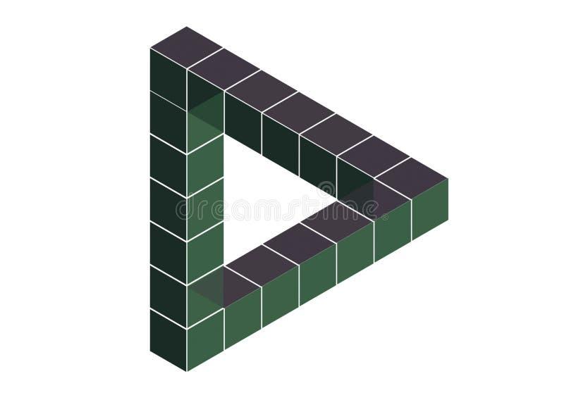 Triángulo imposible stock de ilustración