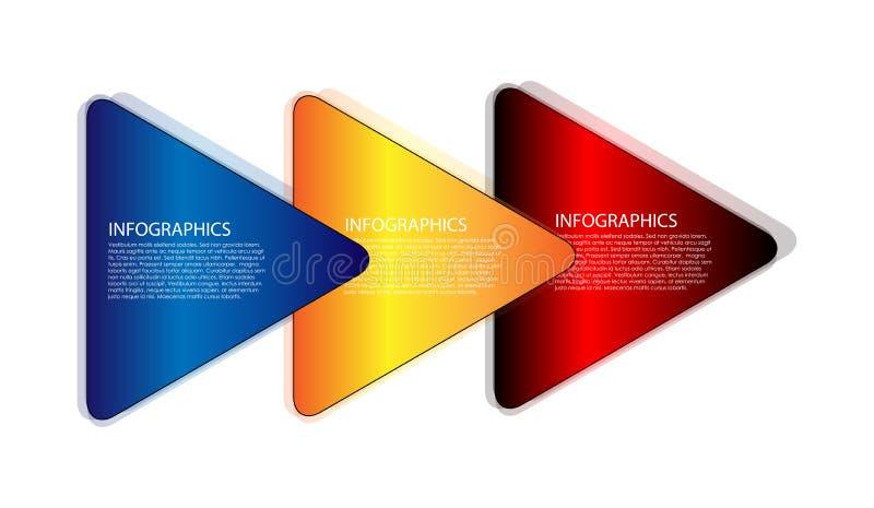 Triángulo infographic ilustración del vector