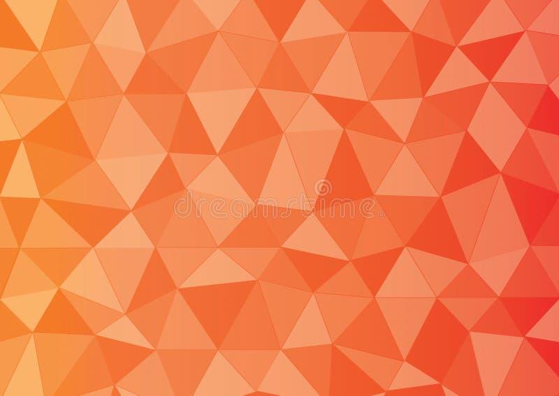 Triángulo rojo del amarillo anaranjado stock de ilustración