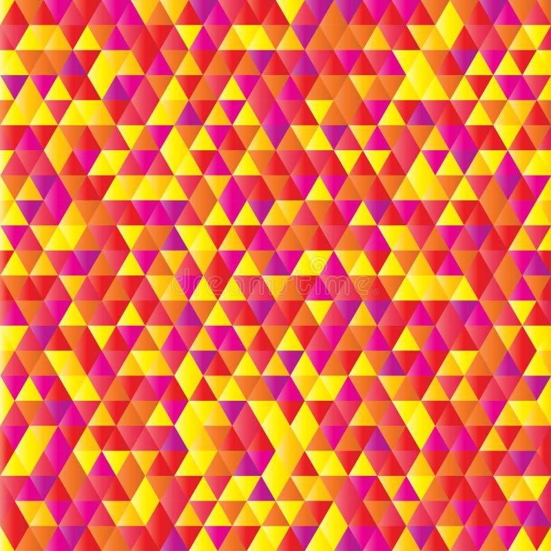 Triángulo rosado amarillo rojo geométrico de la pendiente del modelo de mosaico libre illustration