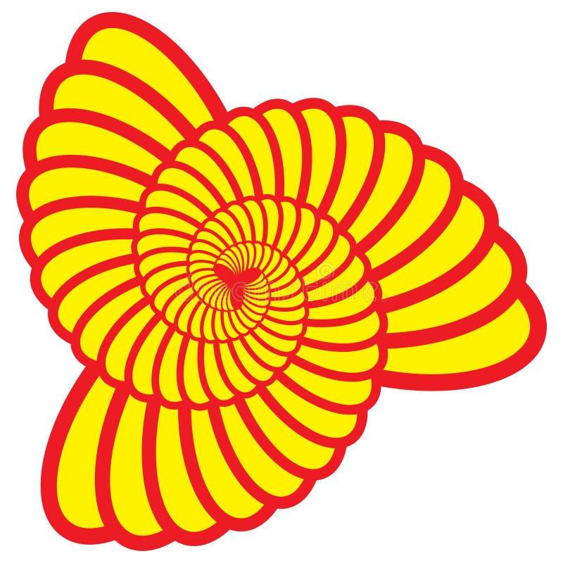 Triángulo Shell Swirl Vector del giro ilustración del vector