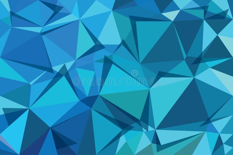 Triángulo trasero del azul ilustración del vector