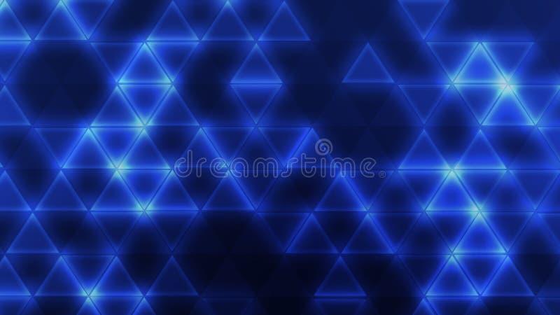 Triángulos azules stock de ilustración. Ilustración de prismático ...