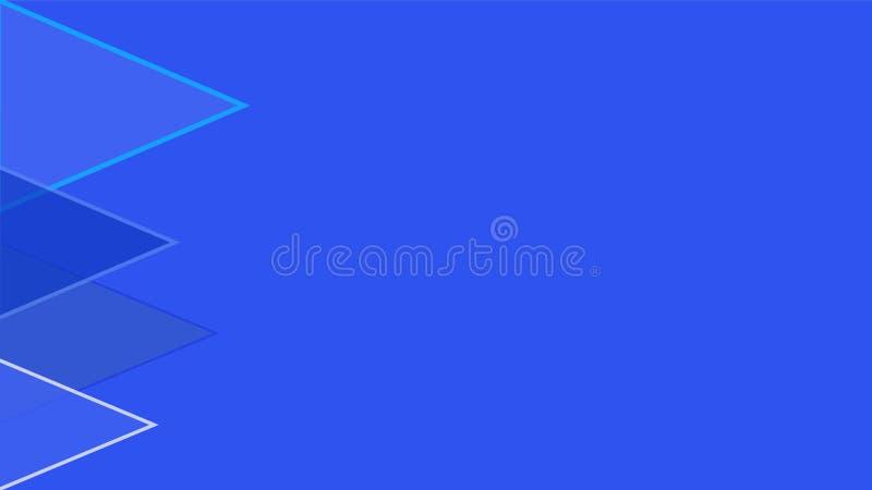 Triángulos de los azules del papel pintado cuatro libre illustration