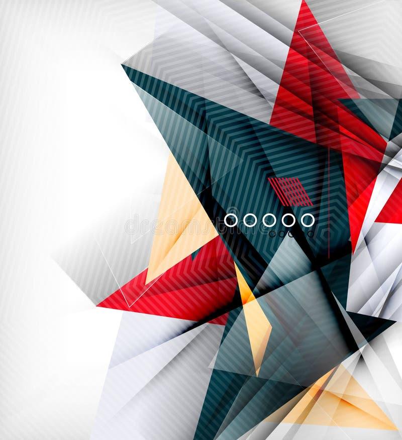 Triángulos del color, fondo abstracto inusual stock de ilustración