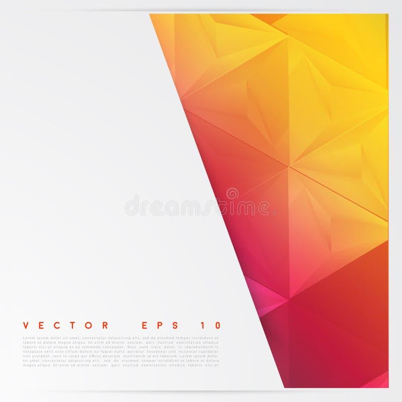 Triángulos del polígono del extracto del fondo del vector ilustración del vector