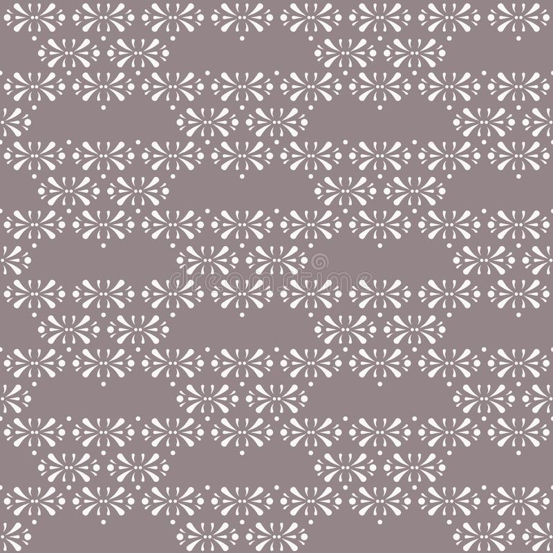 Triángulos florales del vector en fondo inconsútil del modelo de Brown del cacao ilustración del vector