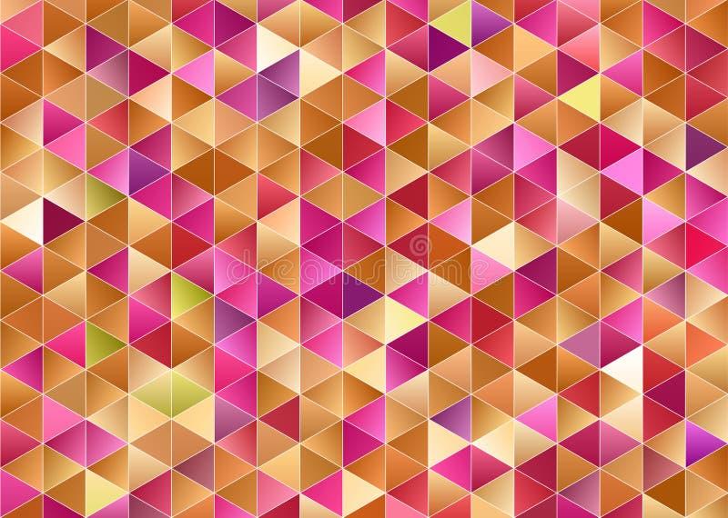 Triángulos, fondo abstracto Papel pintado del diseño fotos de archivo
