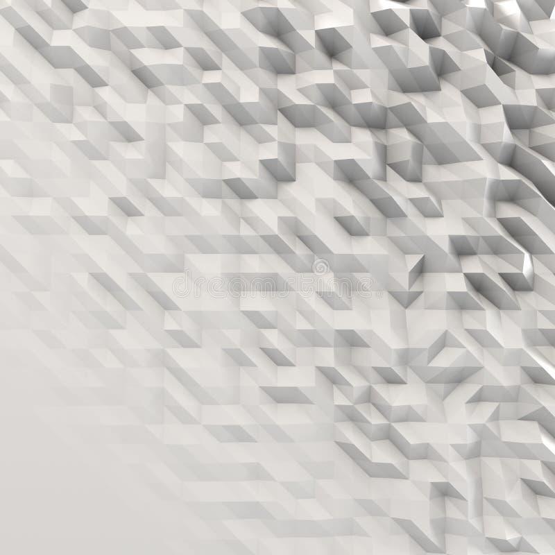 Triángulos sacados afilados - tiro delantero stock de ilustración