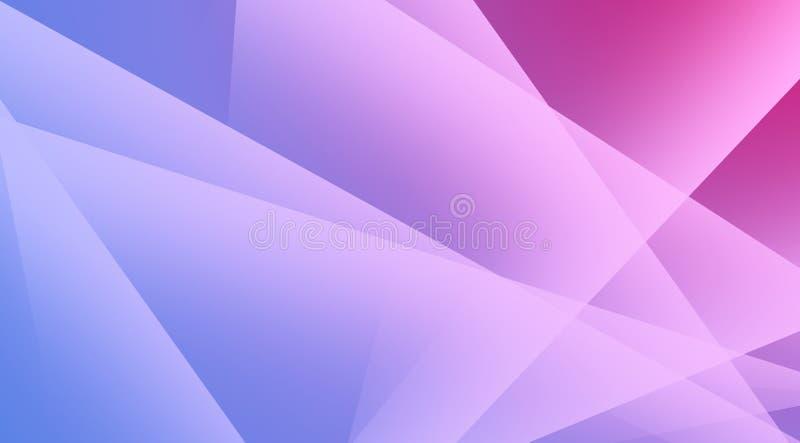 Triángulos transparentes de color blanco diseño de fondo suave y pacífico, con gradiente rosa y violeta stock de ilustración