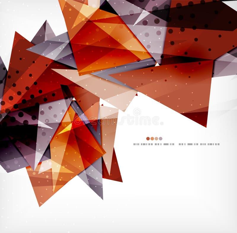 Download Triángulos Traslapados Brillantes Modernos 3d Ilustración del Vector - Ilustración de púrpura, modelo: 42436336