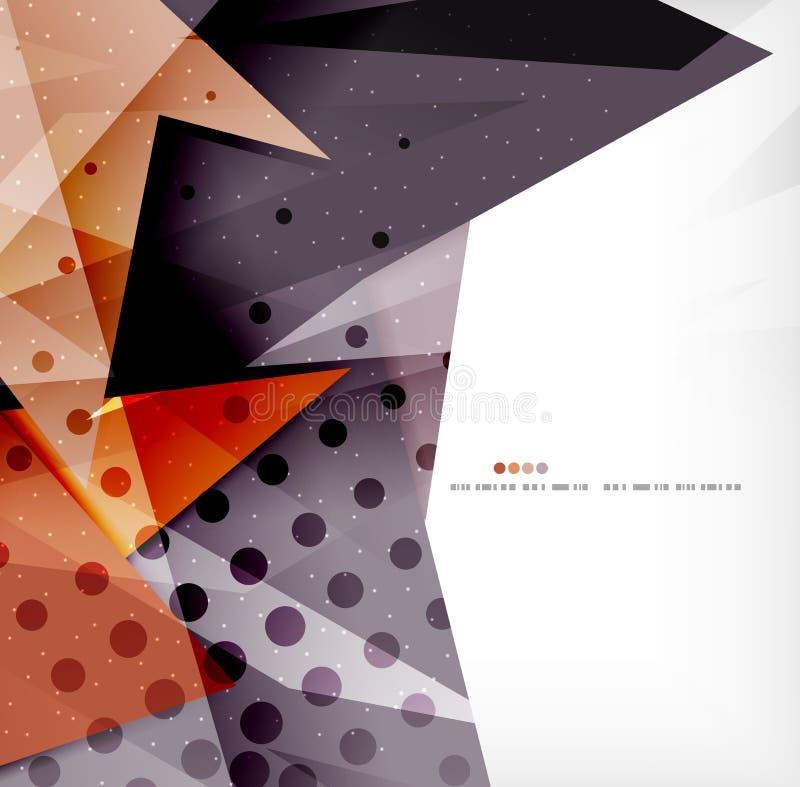 Download Triángulos Traslapados Brillantes Modernos 3d Ilustración del Vector - Ilustración de brillante, idea: 42436346