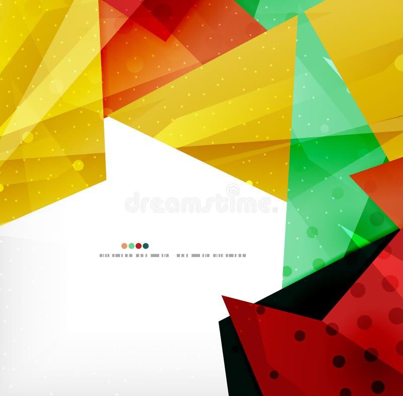 Download Triángulos Traslapados Brillantes Modernos 3d Ilustración del Vector - Ilustración de geométrico, fondo: 42436416