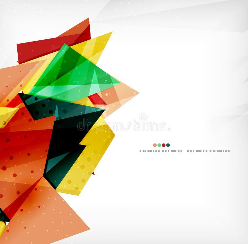 Download Triángulos Traslapados Brillantes Modernos 3d Ilustración del Vector - Ilustración de ilustración, diferente: 42436490
