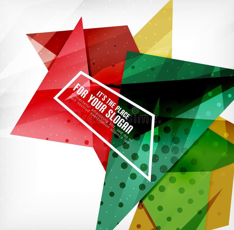 Download Triángulos Traslapados Brillantes Modernos 3d Ilustración del Vector - Ilustración de concepto, geométrico: 42437351