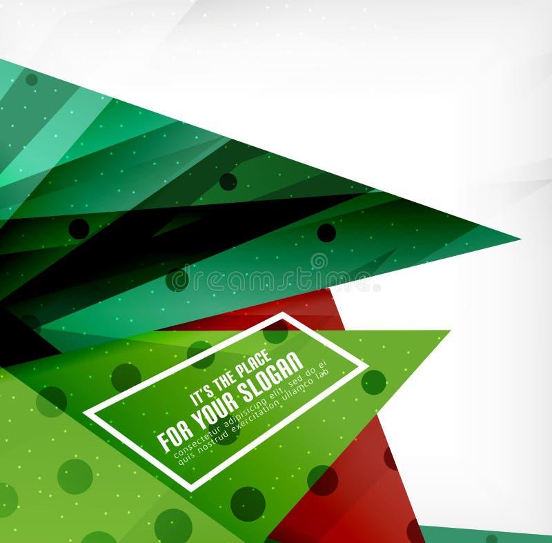 Download Triángulos Traslapados Brillantes Modernos 3d Ilustración del Vector - Ilustración de rojo, ilustración: 42437399