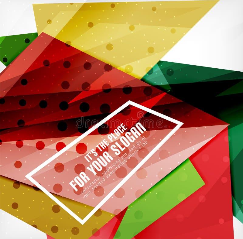 Download Triángulos Traslapados Brillantes Modernos 3d Ilustración del Vector - Ilustración de abstracción, efecto: 42437430