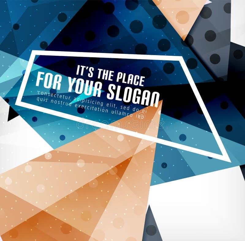 Download Triángulos Traslapados Brillantes Modernos 3d Ilustración del Vector - Ilustración de brillante, geométrico: 42437448