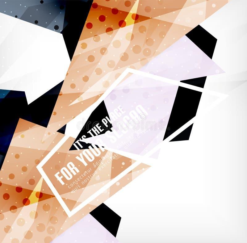 Download Triángulos Traslapados Brillantes Modernos 3d Ilustración del Vector - Ilustración de extracto, digital: 42437486