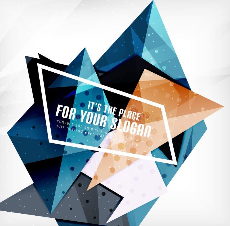 Download Triángulos Traslapados Brillantes Modernos 3d Ilustración del Vector - Ilustración de brillante, futurista: 42437503