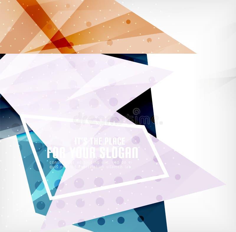 Download Triángulos Traslapados Brillantes Modernos 3d Ilustración del Vector - Ilustración de brillante, anaranjado: 42437522