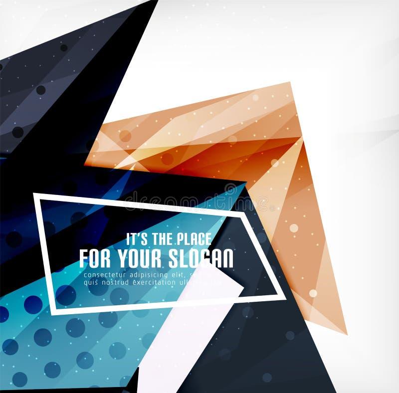 Download Triángulos Traslapados Brillantes Modernos 3d Ilustración del Vector - Ilustración de abstracción, lossy: 42437527