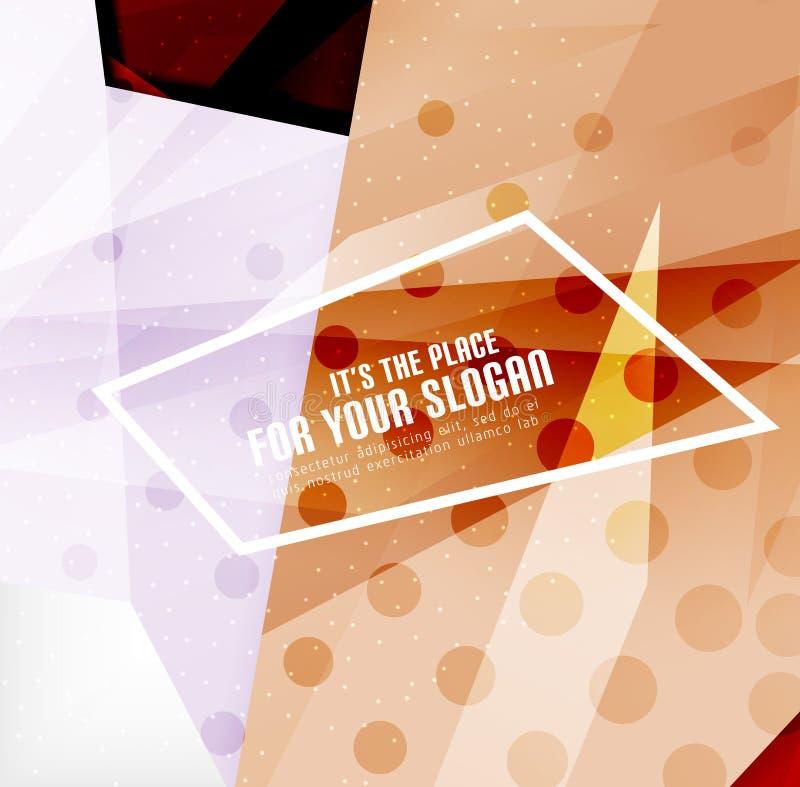 Download Triángulos Traslapados Brillantes Modernos 3d Ilustración del Vector - Ilustración de concepto, pink: 42437543