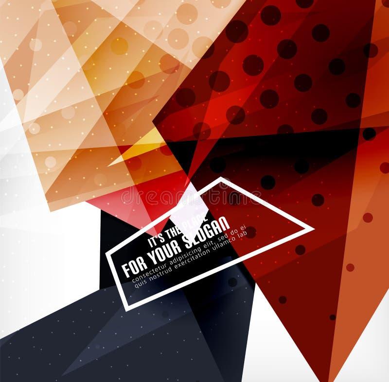 Download Triángulos Traslapados Brillantes Modernos 3d Ilustración del Vector - Ilustración de geometría, geométrico: 42437581